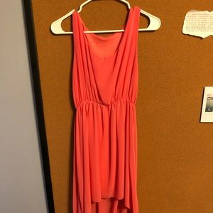 High low dress coral